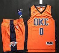 43b9a14b9 Oklahoma City Thunder  0 Russell Westbrook Orange Alternate A Set Stitched  NBA Jersey