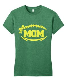 This Line Liam Kelly Green & Yellow 'Mom' Tee by Line Liam is perfect! #zulilyfinds