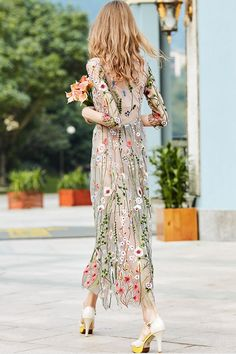 Buy Party Dresses Maxi Dresses For Women from Fantasyou at Stylewe. Online Shopping Stylewe Party Dresses Casual Dresses Holiday A-Line Crew Neck Sleeve See-Through Look Elegant Dresses, The Best Going Out Maxi Dresses. Elegant Dresses, Pretty Dresses, Beautiful Dresses, Casual Dresses, Maxi Dresses, Sleeve Dresses, Long Dresses, Awesome Dresses, Casual Clothes