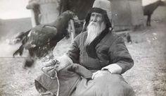 Great Kazakh poet Shakarim with his eagle