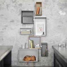 Muuto Stacked shelf module with backboard small, light grey   Muuto Stacked   Furniture   Finnish Design Shop