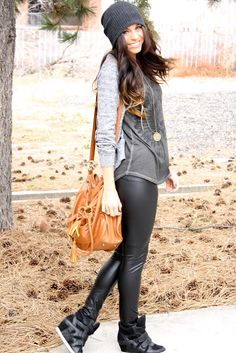 leather pants // xoxo cleverly, yours: busy weekend...