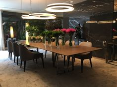 Living Room Decor, Dining Room, Architecture Design, Sweet Home, Villa, Interior Design, Table, Mirrored Walls, Home Decor