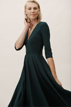 35fb0283cf Valdis Dress Dark Emerald in Bridesmaids  amp  Bridal Party