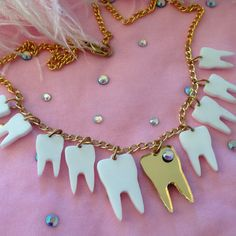 Sweet Tooth Necklace by imyourpresent on Etsy, $16.00                                                                                                                                                     More