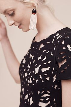 Aliz Laser-Cut Dress - anthropologie.com