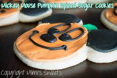 Mickey Mouse Pumpkin Spiced Sugar Cookies! Happy Halloween!
