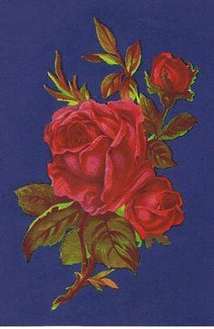 1 Red Rose Victorian Design Vintage Decals by decorativedecals, £1.50