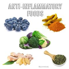 "Did you know that consuming anti-inflammatory foods not only helps with the immune system but also promotes healthy aging? ""Anti-aging provides a very wrong relationship with nature."" A healthy aging process is totally separate from age-related diseases and age-related diseases begin as inflammatory processes in the body. Interesting huh? Anti-inflammatory foods such as blueberries, turmeric, cruciferous veggies, ginger, green tea and omega-3 fatty acids are such naturally anti inflammatory"