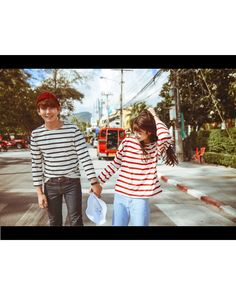 Couple Striped T-Shirt - Evolu | YESSTYLE