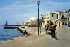 Chania 1970 Crete Island, Simple Photo, Once Upon A Time, Greece, The Past, Street View, Dreams, Memories, Photos