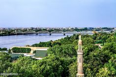 The Blue Nile through Khartoum  النيل الأزرق خلال الخرطوم #السودان   (By Na Gi)  #sudan #khartoum #capital #bluenile #nile #bridge