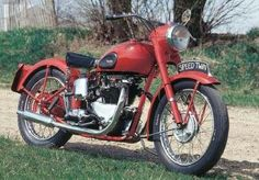 The 1947 Triumph Speed Twin motorcycle is a fine example of the kind of motorcycle that made Triumphs so popular in the middle of the century.