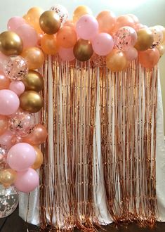 Rose Gold, Blush and Maroon Balloon Garland Arch Decoration Kit in 2021 | Gold birthday party ...