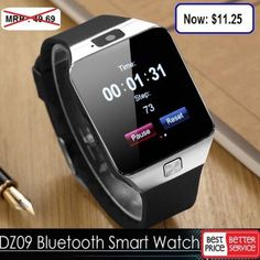 Smart Watches: Dz09 Bluetooth Smart Watch Gsm Sim For Iphone Samsung Lg Android Phone Mate Usa -> BUY IT NOW ONLY: $11.25 on eBay!