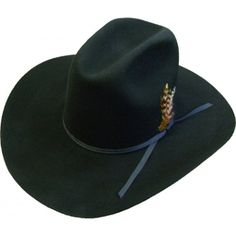 9725f6116ce66 Adult Dyna Felt Cattleman Garth Black Cowboy Hat