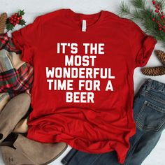 It& The Most Wonderful Time For A Beer Unisex T-Shirt . Read more The post It& The Most Wonderful Time For A Beer Unisex T-Shirt appeared first on How To Be Trendy. Source by Look pijama Xmas Shirts, Funny Christmas Shirts, Party Shirts, Ugly Christmas Sweater, Christmas T Shirt, Diy Christmas, Beer Christmas Gifts, Christmas Vases, Winter T Shirts