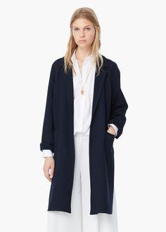 Wool overcoat -  Women   MANGO