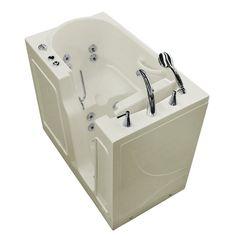 "Prairie 45.7"" x 26"" Whirlpool Jetted Bathtub"