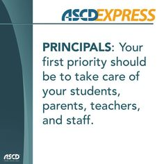 Learn how to be the best principal to your students, teachers, parents, and staff.