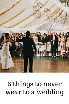 6 Things to Never Wear to a Wedding | City Girl Savings
