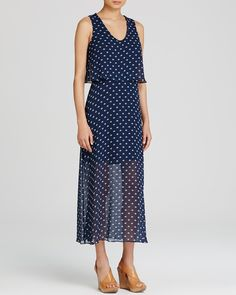 Two by VINCE CAMUTO Polka Dot Midi Dress | Bloomingdale's