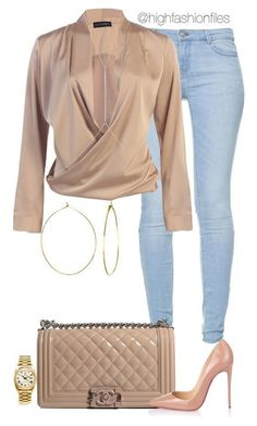 Plain Jane by highfashionfiles fall everyday outfit Rolex, Phyllis Rosie, Chanel, Christian Louboutin and Ileana Makri Mode Outfits, Night Outfits, Classy Outfits, Stylish Outfits, Fashion Outfits, Womens Fashion, Fashion Trends, Classy Jeans Outfit, Outfit Night