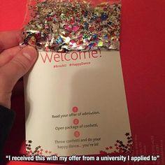 Öğrencinin okula kabulünü konfeti göndererek kutlayan üniversite iyi bir işveren markası ruhu örneği olabilir. #isveren #employerbranding #recruitment #işealım #ik #ikblog #eğitim