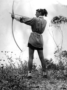 Lucia Eames, only daughter of Charles Eames, only step-daughter of Ray Eames, Archery-1946