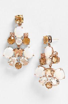 These Kate Spade chandelier earrings are breathtaking.