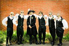 Groomsmen outfit inspiration for a masquerade wedding #wedding #masquerade