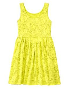 Neon lace dress | Gap