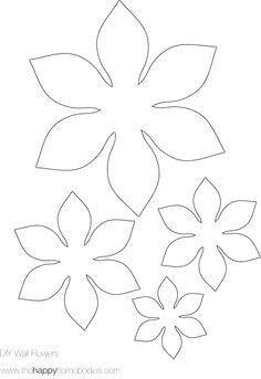 Las 89 Mejores Imágenes De Flores Plantillas Flores Moldes