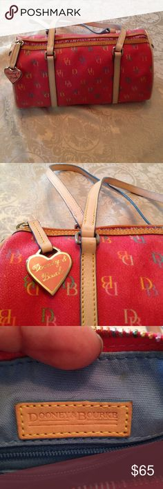 Dooney&Bourke medium satchel Pink Dooney&Bourke satchel, very gently used but does have 2 small pen marks as seen in pic 4. 6\' high, 11\' long and 5 1/2\' deep. Dooney & Bourke Bags Satchels