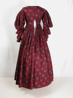 1836 Dress (back view) Killerton Fashion Collection © National Trust / Sophia Farley and Renée Harvey
