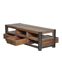 Three-Drawer Pine Coffee Table | Daily deals for moms, babies and kids