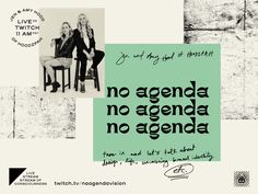 No Agenda Live Stream on Twitch -- Today at 11am PST!
