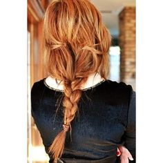 Natural red hair with blonde highlights Cute hair!