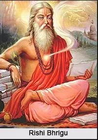 Maharishi Bhrigu was one of the seven great sages (the Saptarshis).Bhrigu is considered as a Manasa Putra (mind-born-son) of Brahma. Maharishi bhrigu is also called 'Prajapati' (Creator) as he was created by lord Brahma to help him in the process of creation of the universe.
