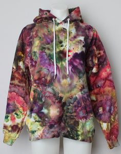 Your place to buy and sell all things handmade Tie Dye Hoodie, Dye T Shirt, Ice Dyeing, How To Dye Fabric, Tye Dye, Hoodies, Sweatshirts, Diy Clothes, Color Combos