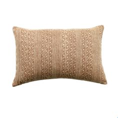 This pillow cover is a rust color. Made in USA. 100% off-white heavy weight linen back. Invisible zipper, serged edges. INSERT SOLD SEPARATELY. Recommend sizing up for a square and same size for a lumbar: Decorative Pillow Insert
