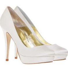27c4a319 Libby - Freya Rose silke brude sko hæl 125mm plateau 30mm Shoe Clips,  Wedding Photos