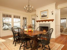 43 Fireplaces To Warm Up With This Winter Country Dining RoomsCottage