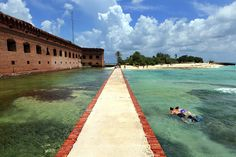 Camping and Snorkeling at Fort Jefferson/Dry Tortugas National Park, Florida