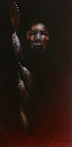 Guardian oil on canvas by Donn Clark kp
