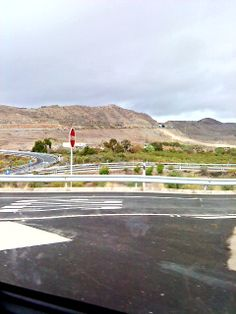 View in Gran Canaria #pretty #view #beautiful #beauty #road #sky #clouds #green #trees #blue #GranCanaria