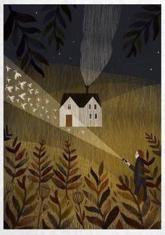 illustration by Alexandra Dvornikova Art And Illustration, Arte Inspo, Kunst Inspo, Klimt, Whimsical Art, Love Art, Painting & Drawing, Art Drawings, Images