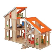 Plan Toys  •  Chalet Dollhouse With Furniture  •  190,00 €