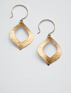 artisan 14K gold fill teardrop earrings