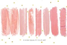 Blush pink brush strokes, by My Lovely Sister on @creativemarket